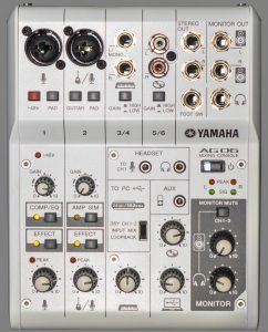 yamaha ag03 i yamaha ag06 audio interfejs
