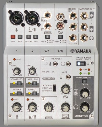 yamaha ag03 i yamaha ag06 audio interfejs